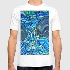 HIGH WATER Mens Fitted Tee MEDIUM White