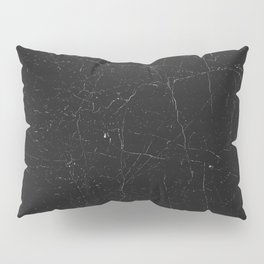Black distressed marble texture Pillow Sham