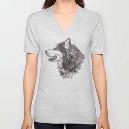 Gotta draw the Husky Doggie Unisex V-Neck