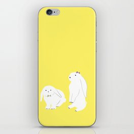 cute bunnies iPhone Skin