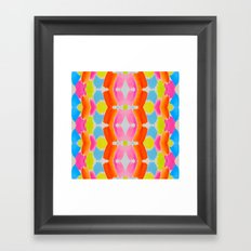Candy Clouds Pattern Framed Art Print