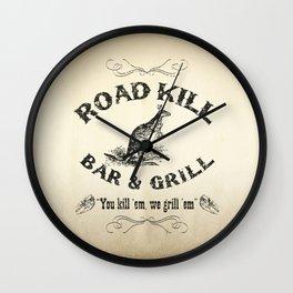 Road Kill Bar & Grill Wall Clock