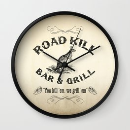 Road Kill Bar & Grill Wall Clock