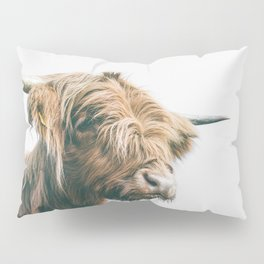 Majestic Highland cow portrait Pillow Sham