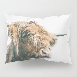 Majestic Highland cow portrait Pillow Sham