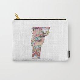 Vermont map Portrait Carry-All Pouch