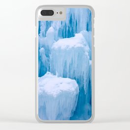Beautiful Blue Icicles Clear iPhone Case