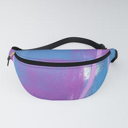 Abstract in Purple and Blue Fanny Pack