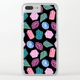 Low poly crystal pattern 1 Clear iPhone Case