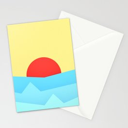 Childish Sunset Stationery Cards