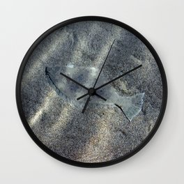 Halibut in the Sand Wall Clock