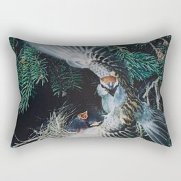 bird beautiful Rectangular Pillow