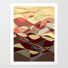 Gold Waves Art Print