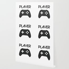 Player Text and Gamepad Wallpaper