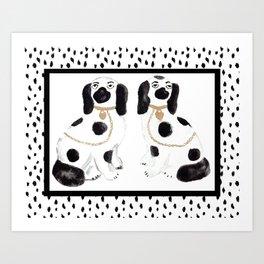 Staffordshire Dog Figurines No. 1 Art Print