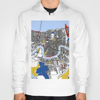 new orleans Hoodies featuring New Orleans by Mondrian Maps