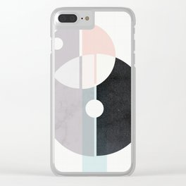 Mid century beautiful mess Clear iPhone Case