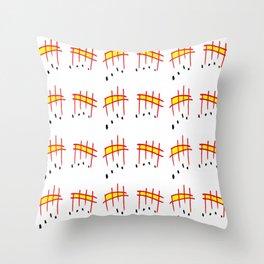melody 3-music,melody, mark, music notation,fun, solfeggio, pleasure, rythm, dance, art Throw Pillow