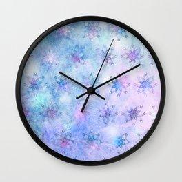 Snow Blossoms Wall Clock
