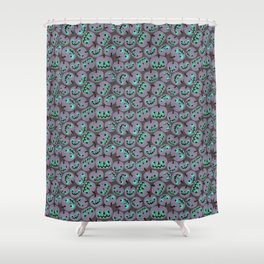 purple pumpkins Shower Curtain