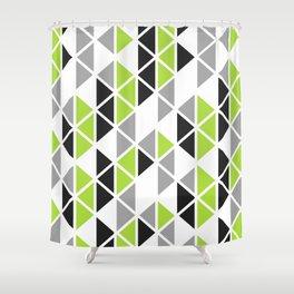 Triangular Vitrail Mosaic Pattern V.07 Shower Curtain