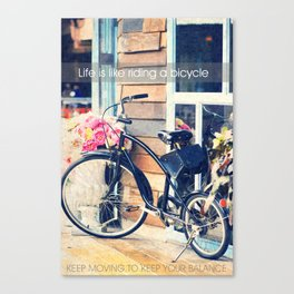 Life is Like Riding a Bicycle. Canvas Print