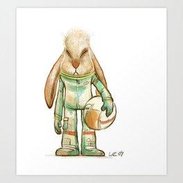 bunny astronaut Art Print
