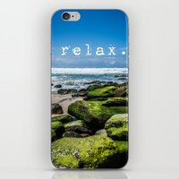 relax iPhone & iPod Skins featuring Relax by Michelle McConnell