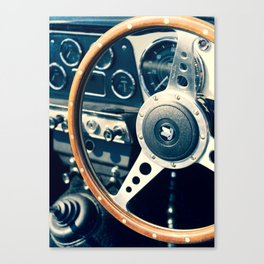 Old Triumph Wheel / Classic Cars Photography Canvas Print