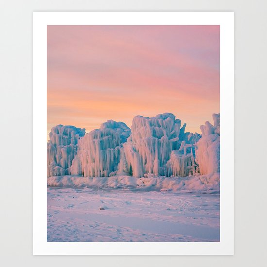 Ice Castles Art Print