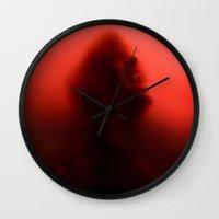 true blood Wall Clocks featuring THE TRUE BLOOD by BeautyArtGalery