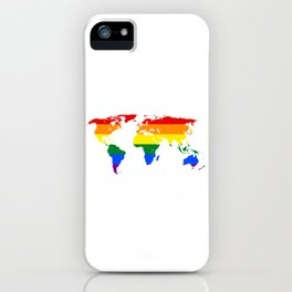 LGBT World Map iPhone Case