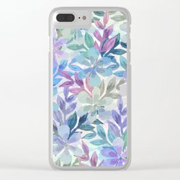 watercolor Botanical garden Clear iPhone Case