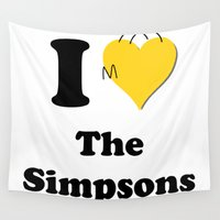 homer Wall Tapestries featuring I Love the Simpsons - Homer Heart by High Design