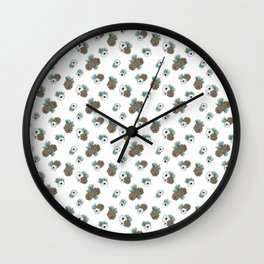 Holiday Pinecones and Anemones Wall Clock