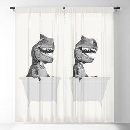 Vintage T-Rex in Bathtub Blackout Curtain