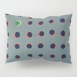 Green floats on yellow - red graphic Pillow Sham