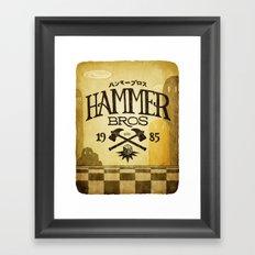 HAMMER BROTHERS Framed Art Print