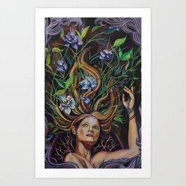 Transmutation Blooms Art Print