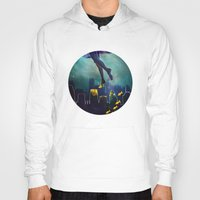 swim Hoodies featuring Midnight Swim by Corrine Cueto