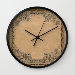 Old Knotwork Paper Wall Clock