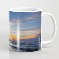big sur Mugs featuring Big Sur sunset  by davehare