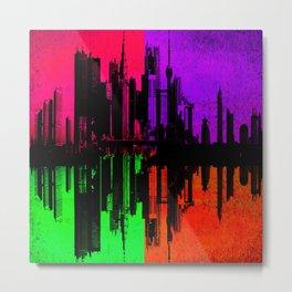 Skyline Colors Metal Print