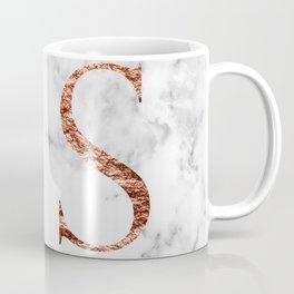 Monogram rose gold marble S Coffee Mug