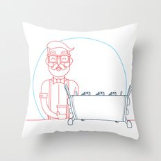 Coffee (lineart) Throw Pillow