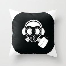 Post World Zuno : Gas Mask 04 Throw Pillow
