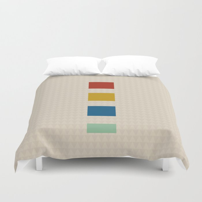 four elements || tweed & primary colors Duvet Cover