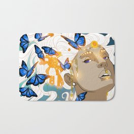 Butterflies Amazon Bath Mat