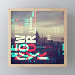 GLITCH CITY #80: New York Framed Mini Art Print