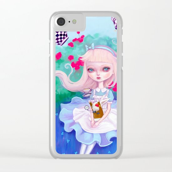 Alice In Wonderland Clear iPhone Case